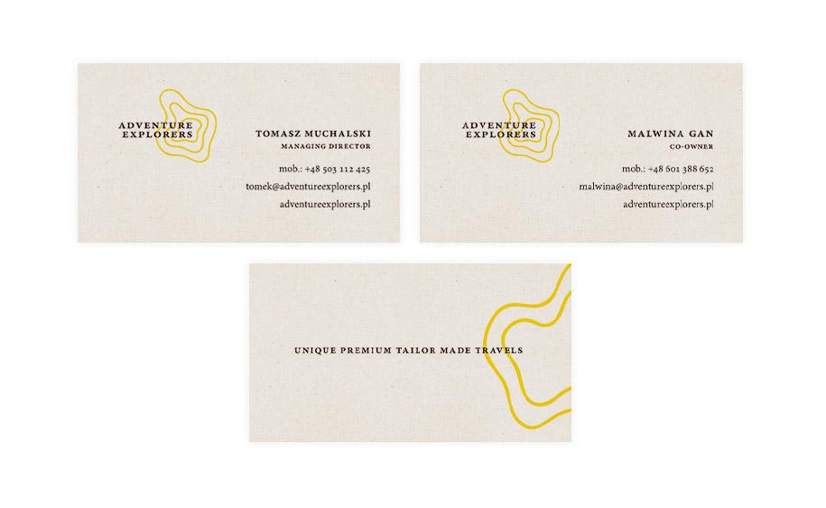 Projekt wizytówek wykonanych na ekologicznym papierze Crush Grape zsurowców zdodatkiem miazgiowocowej.