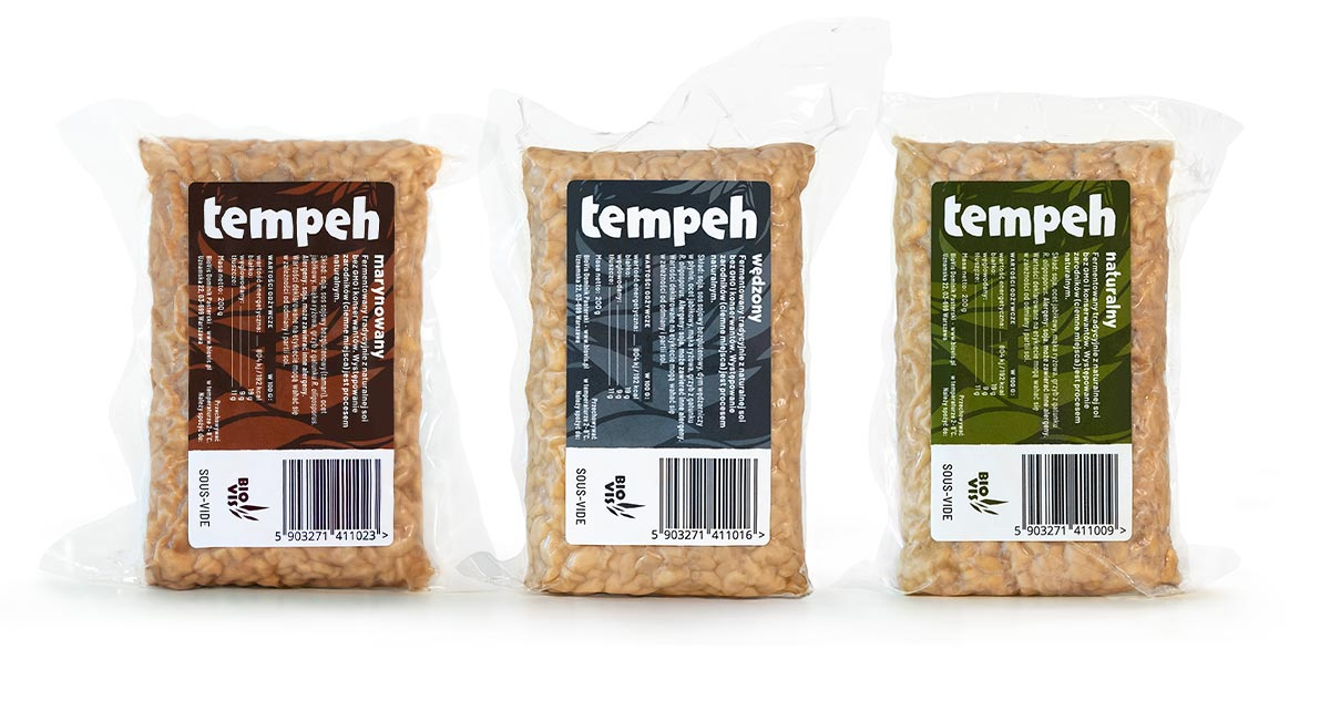 Projekt etykiet produktowych—tempeh